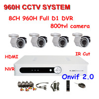 Wholesale 800TVL Surveillance CCTV System NVR Kit With ch h Full D1 DVR TVL IR Cameras CCTV System ch DVR Kit Support Onvif