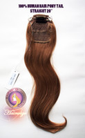 pony hair - 100 HUMAN HAIR PONYTAIL PONY TAIL WITH CRYSTAL BALLS TIED UP STRAIGHT quot
