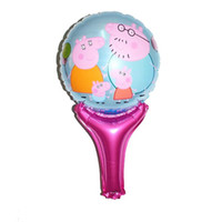 Wholesale 2014 Cartoon Peppa Pig Kids Children s Day Gift Hand Out Balloons Childs Party Decorate Foil Ballon Birthday Aluminum Ballon H0930