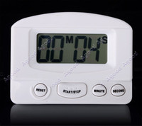 Wholesale Mini LCD Digital Kitchen Timer Count Up Down Magnetic Electronic Alarm Cooking White black color