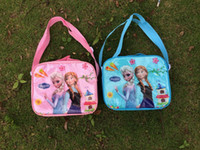 Wholesale FROZEN lunch bag Princess Elsa Bags Frozen lunch boxes Student Lunchbags cm
