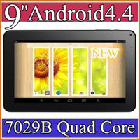 "9 inch Android 4.4 8GB 100pcs 9"" quad core tablet pc android 4.4 KitKat AMT7029 QuadCore 1GB RAM 8GB ROM tablets Dual Camera PB09-7"