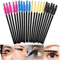 Wholesale 100pcs Disposable Eyelash Mascara Applicator Wand makeup brush One off Eyelash Extension Wands brushes