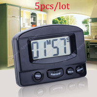 Wholesale 5pcs Mini LCD Digital Kitchen Timer Count Up Down Magnetic Electronic Alarm Cooking White black color