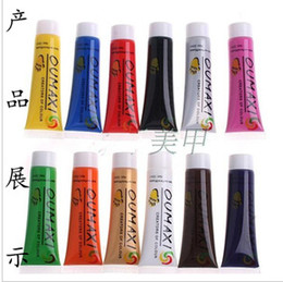 Wholesale New Professional Oumaxi Colors Acrylic Nail Art Paints Nail Polish Drawings Designs D Paint Decor Design Tips Tube set sets