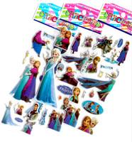 Cheap Cartoon frozen sticker elsa anna party decoration classic toys for children baby toys 2014 new popular items 100pcs lot