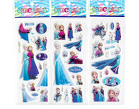 Cheap Cartoon frozen sticker elsa anna party decoration classic toys for children baby toys 2014 new popular items 600pcs lot