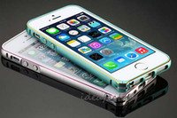 Wholesale Ideafactory DHL mm Thin Screwless Arc frame Aluminum Metal Bumper Case For iPhone S G