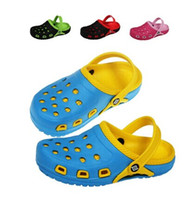 Wholesale New Summer EVA Fashion Hollow Out Breathable Children Shoes Hole Hole Sandals Boy Girls Slippers Kids Beach Shoe Size