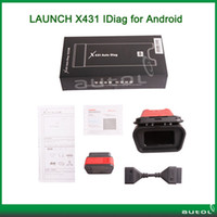 Wholesale DHL Launch X431 Idiag Auto Diag For Andriod Car Scanner Scan Tool Bluetoth Update Online