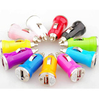 Wholesale Mini USB Car Charger USB Charger Universal Adapter for iphone S Cell Phone PDA MP3 MP4 player mobile i9500 s3 m7