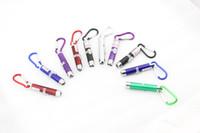 Wholesale 100pcs DHL Triple mini portable flashlight infrared laser Pointer Pen light teaching UV money detector light LED flashlight
