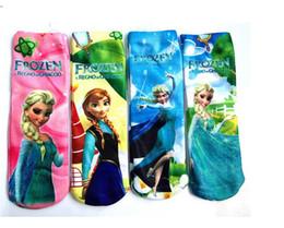 Wholesale Cartoon children socks kids frozen socks Ice snow boy girl socks spring autumn tall waist socks pairs LC