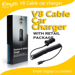 New Design car adapter charger USB cable 2 in 1 Samsung Blackberry Original Item For Note 3 S5 S4 Note 2 S3 Blackberry with retail package