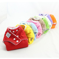 0-3 Months babies city - New BABY CITY One Size Cloth Snap Diapers Reusable Washable Cloth diaper Nappy covers Colors insert