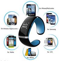 оптовых l12s запястье-Bluetooth смартфон Часы браслет браслет L12S OLED наручные часы Anti-потерянный дизайн для IOS iPhone Samsung Android Мобильные телефоны Гир