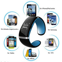 Wholesale Bluetooth Smart Phone Watch Wristband L12S OLED Bracelet Wrist Watch Anti lost Design for IOS iPhone Samsung Android Mobile Phones Gear