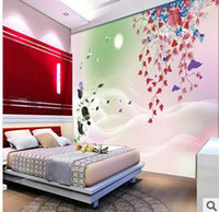 Wholesale New Modern flower may Large HD Mural Wallpaper Perfect Lilies Bedroom Living Room Settings