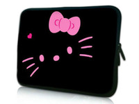Wholesale Lovely Hello Kitty Design quot quot quot Soft Laptop Sleeve Neoprene Skin Computer Case Bag Notebook Cover Pouch