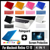 Wholesale in For Macbook Pro quot inch Retina Display Matte Crystal Hard Case Keyboard Cover Screen Protector Palmguards