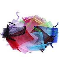 Jewelry Pouches,Bags organza bags - 100pcs x9cm Christmas Wedding Voile Gift Bag Solid Multi Color Organza Bag Jewelry Packing Gift Pouch Drawstring Pouch