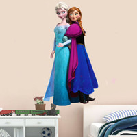 Wholesale S Frozen Wall Stickers Frozen Movie Cartoon Wall Stickers Kids Room Nursery Wall Decals Cartoon Wallpaper Kids Frozen Decoration