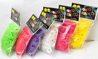 Cheap Hot DIY Rainbow Loom Refill Bands Rainbow Loom Bracelet for kids DIY (600 pcs bands + 24 pcs C-clips ) Colors by DHL