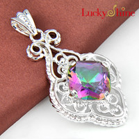Wholesale Elegant Silver colourful Crystal For Mother s Gift Pendant P0028