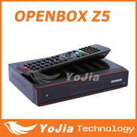 Wholesale 20pcs Original Openbox X5 HD Satellite Receiver update openbox Z5 DVB S TV BOX support Wifi youtube Chinese language