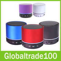 Wholesale New S11 S10 Mini Bluetooth Wireless Speaker Portable Speakers Music Player Handfree Hi Fi For iPhone S S3 S4 S5 Free DHL Shipping