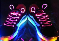 Wholesale LED Flashing Shoe Lace Fiber Optic Shoelaces Luminous Shoelaces Light Up Shoes Lace Pairs