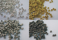 Wholesale 2MM Crimp End Beads Jewelry Findings Connector Components Jewelry Accessories