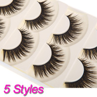 Wholesale New Pair Thick Long False Eyelashes Eyelash Fake Eye Lashes Voluminous Makeup H10849 H10850 H10851 H10852 H10853
