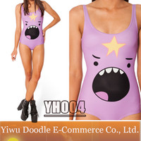 Women Swimdress Print Print Skirts Womens Galaxy Swimsuit Adventure Time 2014 Fashion Dress LUMPY SPACE PRINCESS SHOUT Swimwear One Piece Monokini Bathing Suit