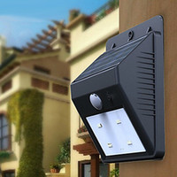 Wholesale PIR Motion Sensor Solar Panel LED Porch Outdoor Wall Light Garden Lamp