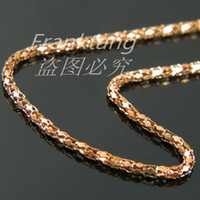 Wholesale 18K Rose Gold Plated Women Chain Necklace L Stainless Steel Snake Chain Necklace Fashion Stainless Steel Jewelry