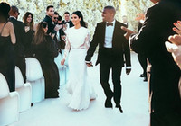 Empire Reference Images Jewel 2014 Kimberly Noel Kim Kardashian And Kanye Omari West Wedding Dresses Ruffle Long Sleeve Monarch-Length Celebrity Bridal Gowns New Arrival