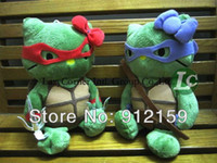 Teddy Bear Multicolor Plush Wholesale 20pcs Lot New arrival Cute Teenage Mutant Ninja Turtles 4 brothers plush toys Cute Doll Kids Gifts Free Shipping
