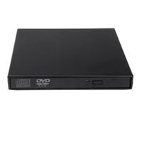 venda por atacado drives ópticos de laptop-Top Quality ótico unidade de disco drives portáteis USB 2.0 DVD CD DVD-ROM externo Slim Case para Notebook Laptop c1905