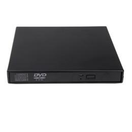 Top Quality ótico unidade de disco drives portáteis USB 2.0 DVD CD DVD-ROM externo Slim Case para Notebook Laptop c1905