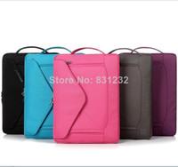 Wholesale color Fashion laptop sleeve bag case men women for iPad macbook air pro inch handbag notebook one shoulder bags