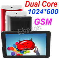 Wholesale 7 Inch G GSM Dual Sim Phone Call Tablet PC Dual Core GHz MTK6572 Phablet Bluetooth Screen Wifi Android GB M RAM