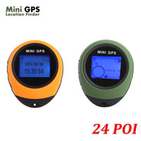 Gps Tracker Christmas  Newest PG03 24 POI Mini GPS Receiver Navigation Tracker Handheld Tracking Location Finder USB with Compass for Outdoor Travel H4012