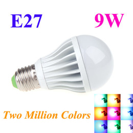 Wholesale E27 High Power LED Multi Color Change RGB Color Light Led Bulb Lamp Remote Control Spotlight Two Million Colors W H10638