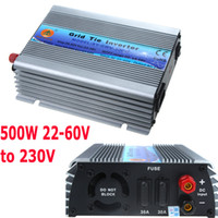 Wholesale 500W Watt Micro Grid Tie Inverter Accept DC V Solar Power Pure Sine Wave MPPT Voltage V AC Output VAC H11089EU
