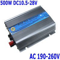 Wholesale 500W Watt Micro Grid Tie Inverter Accept DC V AC Output V Solar Power Pure Sine Wave H11088EU