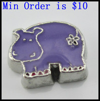 Wholesale NEW Floating Charms Purple Cow charms for floating locket fit in origami owl lockets milk cow charm