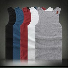 Wholesale 2014 New Arrival Summer Fashion Wild Brand Tank Tops Solid Color Plus Size Men Casual Vest L0195