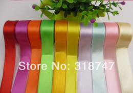 Wholesale quot width mixed color satin ribbon for packing and bow y
