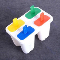 Air Cooling 0 D1305 Free Shipping Mini Ice Cream Frozen 4Pcs Popsicle Maker Mold Icepop Block Icy Pole Lolly DIY